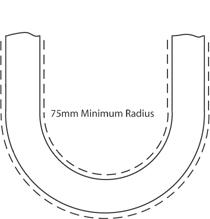 Sweeping radius bend